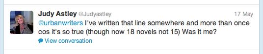 Twitter Judy Astley